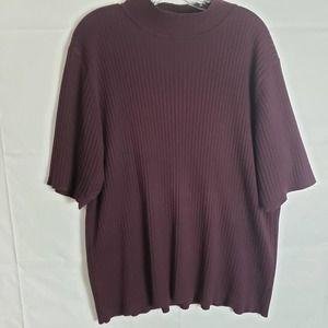 Lane Bryant Women's Sweater Plum Purple Plus 26/28
